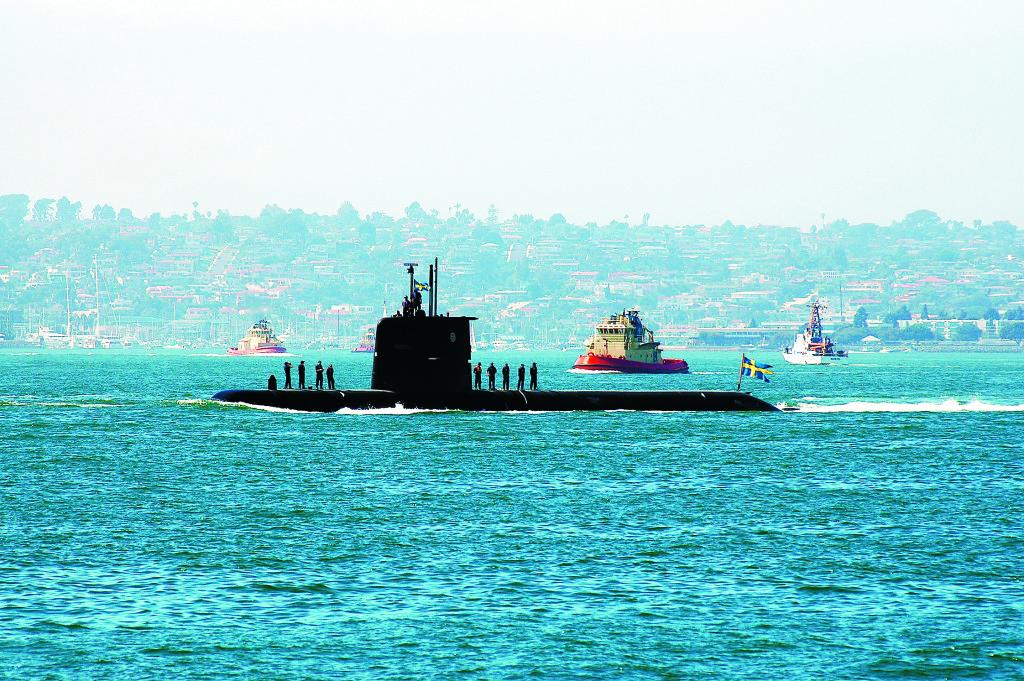 """""""HMS Gotland"""" gjorde succé vid militärövningar i San Diego 2005–07. Den amerikanska flottan hade svårt att lokalisera den tysta ubåten. Foto: Mate 2nd Class Patricia R. Totemeier, U.S. Navy Photo"""