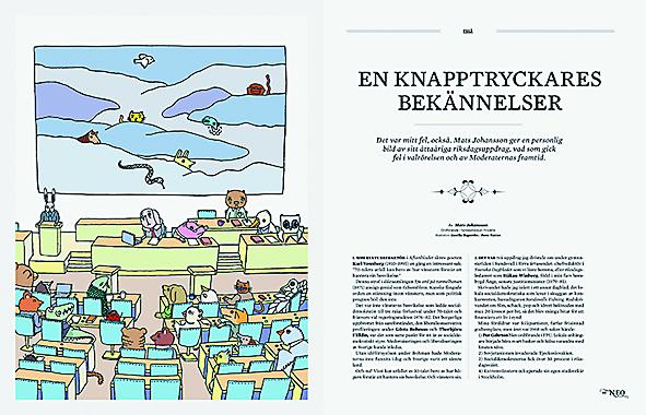 Maria Abrahamsson Mats Johansson En knapptryckares bekännelser Fredrik Reinfeldt hövdingen öppna era hjärtan Neo nr 1 2015