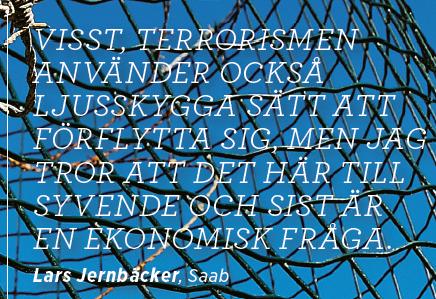 Vapenindustrins våta dröm Mattias Svensson Neo 6 2012 Lars Jernbäcker Saab citat