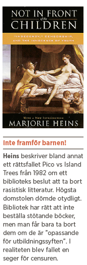 Marjorie Heins Not in fron of the children Ivar Arpi Den konstgjorda toleransen Neo nr 6 2012