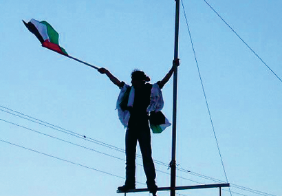 Gaza i botten Björn Brenner Neo nr 2 2012 flagga