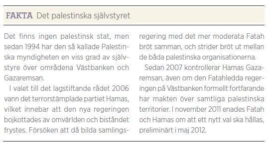 Gaza i botten Björn Brenner Neo nr 2 2012 fakta1