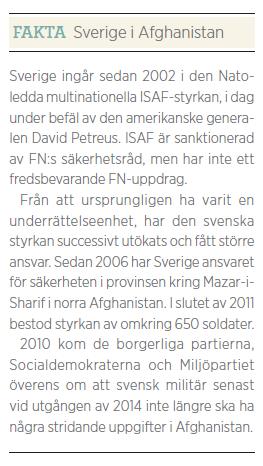 Staffan Heimerson Världens sista krig fakta Afghanistaninsats Neo nr 1 2012
