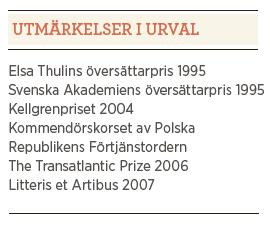 Anders Bodegård intervju Paulina Neuding Madame Bovary Gustave Flaubert Neo nr 1 2013 utmärkelser