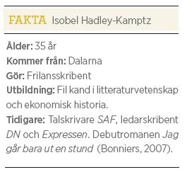 Isobel Hadley-Kamptz Frihet och fruktan Neo nr 5 2011 bakgrund