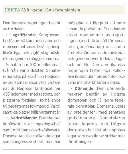 Hans Bergström Dödläget Barack Obama Neo nr 5 2011 fakta Amerikanskt valsystem
