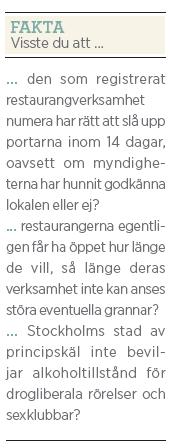 Lisa Magnusson Köket är tyvärr stängt Neo nr 3 2011 fakta serveringstillstånd