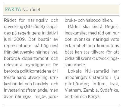 Gunilla Carlsson bistånd Fredrik Segerfeldt Mattias Svensson intervju Neo nr 3 2011 fakta NU-rådet
