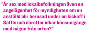 Lisa Magnusson Missionärerna på byxmyndigheten KRUS Neo nr 2 2011 citat1