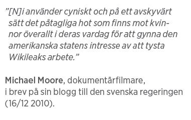 Mårten Schultz Våldtäkt är ingen gummiparagraf Julian Assange Neo nr 2 2011 Michael Moore