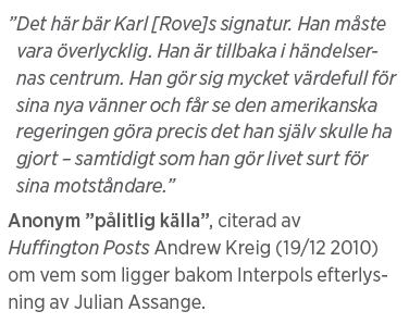 """Mårten Schultz Våldtäkt är ingen gummiparagraf Julian Assange Neo nr 2 2011 """"pålitlig källa"""""""