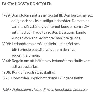 Marianne Lundius intervju Andreas Ericson Paulina Neuding Högsta domstolen Neo nr 2 2011 bakgrund HD