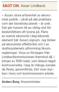 Assar Lindbeck intervju Neo nr 3 2013 Paulina Neuding Anders Borg om