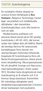 Kjell Häglund ADHD kan lindras och brottsligheten minskas, men sekten hotar forskning och åtgärder Neo nr 2 2013 fakta3
