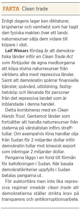 Leif Wenar porträtt Mattias Svensson Neo nr 1 2013 Clean trade