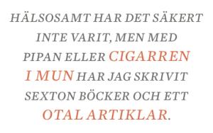 Dan Korn kulturskymning goda cigarrer god litteratur pipa Neo nr 4 2013 citat