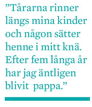 Mattias Svensson Fem år av längtan adoption provrörsbefruktning IVF surrogatmödraskap barnlöshet Neo nr 2 2009 citat1