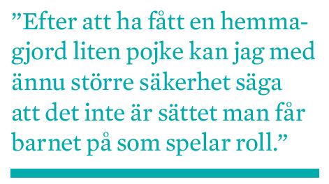 Mattias Svensson Fem år av längtan adoption provrörsbefruktning IVF surrogatmödraskap barnlöshet Neo nr 2 2009 citat2