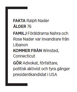Ralph Nader intervju Mattias Svensson Neo nr 5 2010 fakta