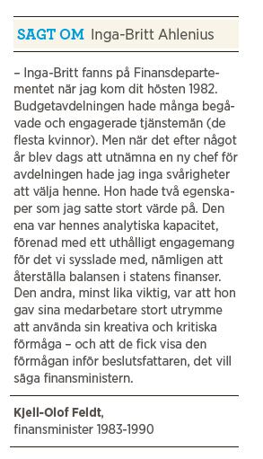 Intervju Inga Britt Ahlenius Neo nr 4 2013 Paulina Neuding Kjell-Olof Feldt om