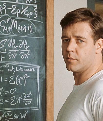 """Filmen """"A beautiful mind"""" (2001) handlar om ekonomipristagaren John Nash, en matematiker som betytt mycket för spelteorins utveckling."""