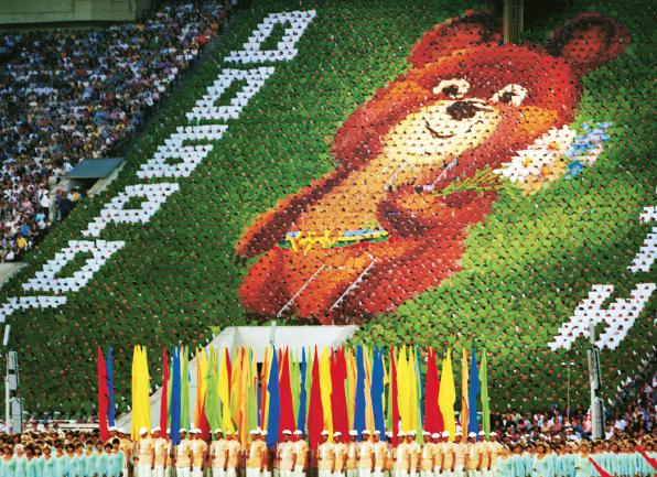 Tv-bolaget NBC var ledsnast i USA när landet bojkottade OS i Sovjet 1980. Foto: Yuri Belinsky / Scanpix