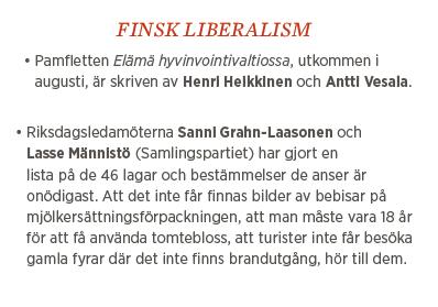 Sylvia Bjon finsk liberalism Neo nr 5 2013 Elämä hyvinvointivaltiossa av Henri Heikkinen och Antti Vesala