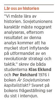 Klas Eklund intervju Neo nr 5 2013 Bokriskommittén Sovjetunionen