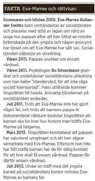 Eva-Marree Kullander Smith fakta