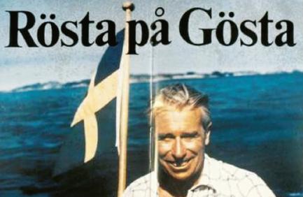 Av Lars Tobissons porträtt av Gösta Bohman framgår att affischen med denna klassiska slogan var en piratprodukt som en privatperson lät trycka upp. Den var dock populär i de moderata länsförbunden.