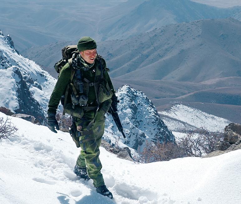Jesper Lindblom under ett av sina uppdrag i Afghanistan. Han var också på Balkan och i Kongo. Foto: Privat.