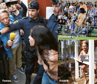 Nakenhet i politik, underhållning och civilsamhälle. Foto: femen.org Foto: Björn Lindgren / TT Foto: Lars Westerlund