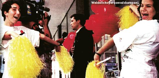En ung Tommy Waidelich jagade kryss i det första svenska Europaparlamentsvalet 1995. Foto: Jan Söderström