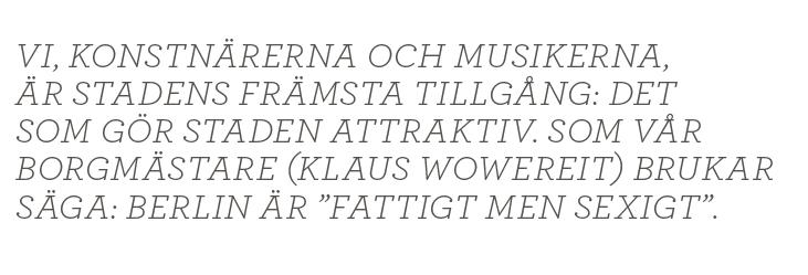 Lizzie Oved Scheja Festen fortsätter i Berlin kultur Neo nr 6 2013 citat1