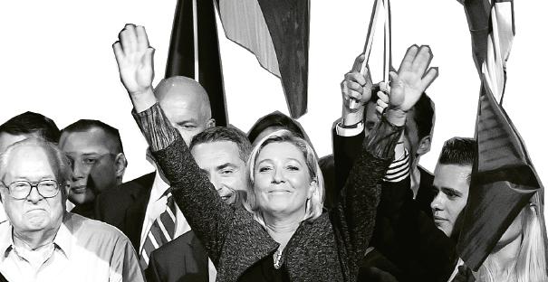 Nationella fronten är även under Marine Le Pen ett parti som motsätter sig frihandel, marknader och migration.