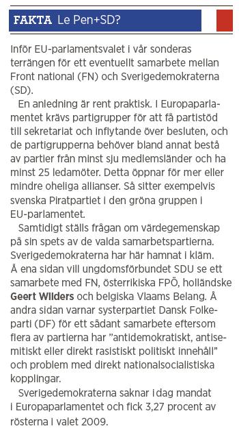 Ester Nylöf Ett mindre jävligt nationalistparti Front national Neo nr 1 2014 Marine Le Pen fakta