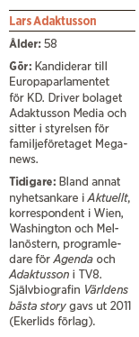 Lars Adaktusson intervju Paulina Neuding Neo nr 2 2014 EU parlamentsval  bakgrund