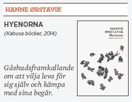 Hanne Ørstavik Hyenorna recension Linda Skugge Neo nr 2 2014