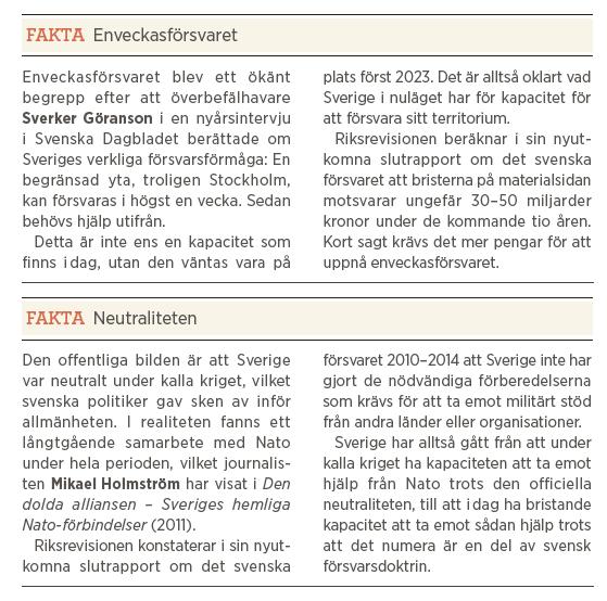 Mikael Odenberg Neo nr 3 2014 Bagdad Bob Anders Borg Fredrik Reinfeldt försvar värnplikt Nato budget fakta