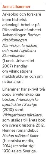 Anna Lihammer Medan mörkret faller historia Carl Hell Maria Gustavsson vikingatiden Neo nr 3 2014 info