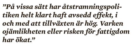 Ivar Arpi åstramningspolitik Paul Krugman Andreas Bergh Timbro Anders Åslund  Valdis Dombrovskis Neo nr 3 2014