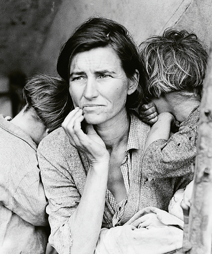"""Migrant Mother"" Foto: Dorothea Lange, Farm Security Administration / Wikimedia Commons"