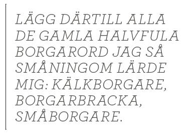 Dick Harrison borgerlig kälkborgare småborgare Marx Fronesis Erik Bengtzboe MUF Thorbjörn Fälldin Neo nr 4 2014 citat1