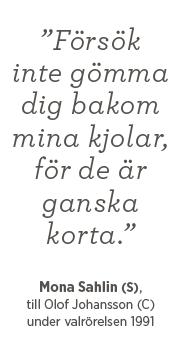 Mona Sahlin Olof Johansson val 1991 valår Andreas Ericson Neo nr 4 2014