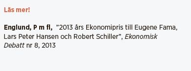 Nils Lundgren Behöver vi fondförvaltare? Neo nr 4 2014 Robert Schiller Eugene Fama Lars Peter Hansen ekonomipris 2013