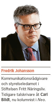 Fredrik johansson Neo nr 5 2014 Svenskt näringsliv Carl Bildt