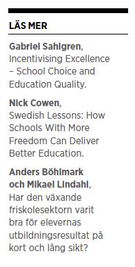 Gabriel Heller Sahlgren skola valfrihet kvalitet utbildning Neo nr 6 2014 läs mer