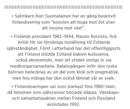 Sylvia Bjon Finlandisering Sovjet Lening Sauli Niinistö Ville Niinistö Neo nr 6 2014 mer