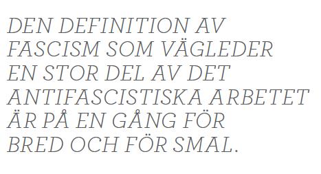 SJohan Lundberg Befläckad antifascism  Margaret Thatcher Augusto Pinochet Bo Inge Andersson Francois Genoud  Ilich Ramírez Sánchez Schakalen Azad Ali fascism Neo nr 6 2014 citat