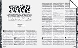 Therése Modig reflektion Endorfiner Mattias Svensson Motion gör dig smartare Tänk att man kan springa ifrån så många problem löpning träning cykel SATS Neo nr 6 2014